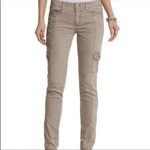 WHBM Skinny Light Khaki Cargo Pants
